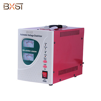 BX-AVR01-2000W 2000W Single Phase Automatic Voltage Regulator Stabilizer with On-Off Switch and Led