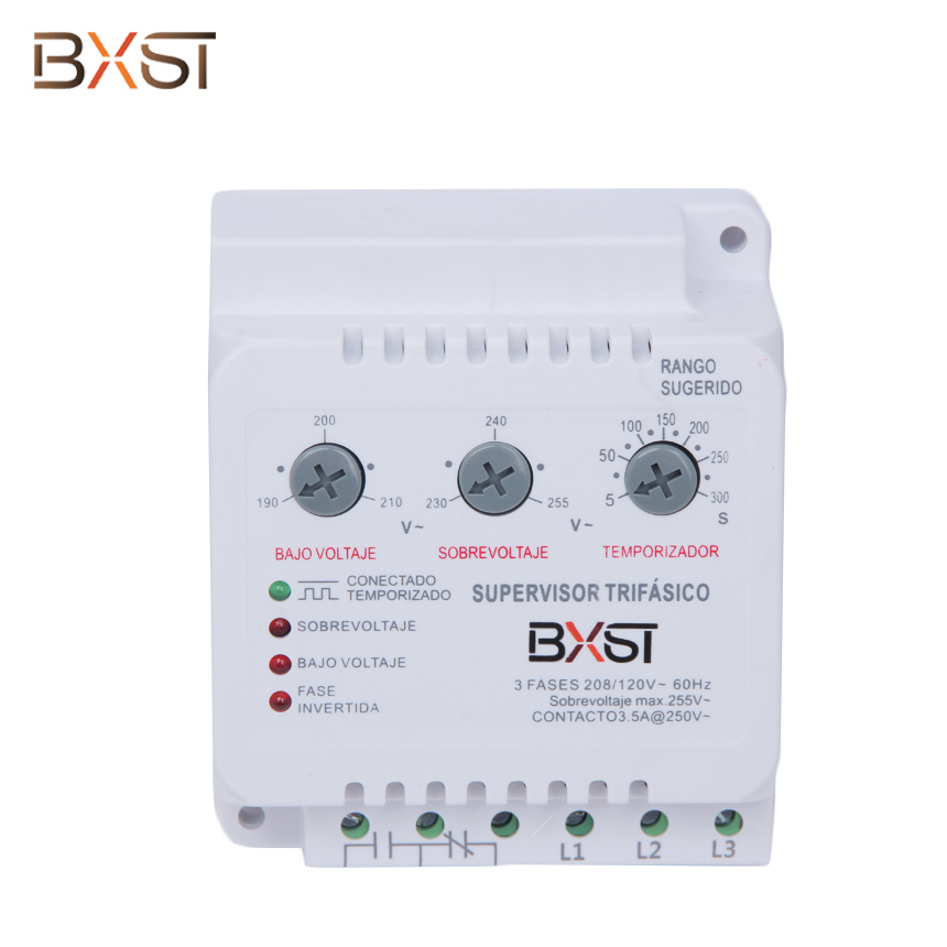 BX-V086 3.5A Rail Type 3-Phase High and Low Voltage Delay Adjustable Wiring Voltage Protector