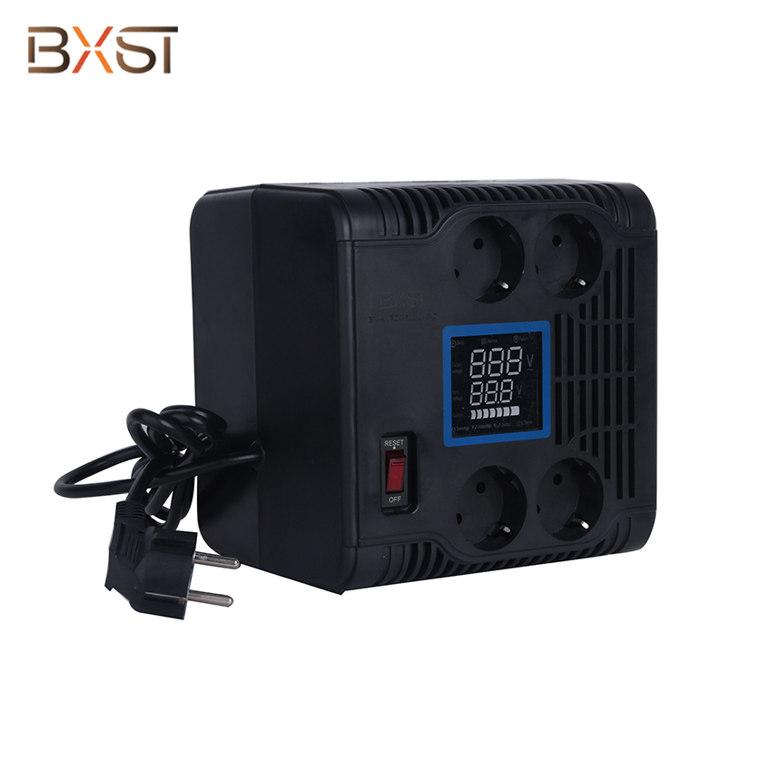 BX-VRS-G4  German Standard LED Indicators Automatic Voltage Regulator Stabilizer with On-Off Switch