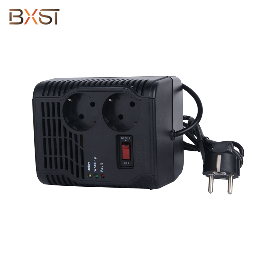 BX-VRS-G2 300/500W German Standard Automatic Voltage Stabilizer with LED Digital Display and On-Off Switch